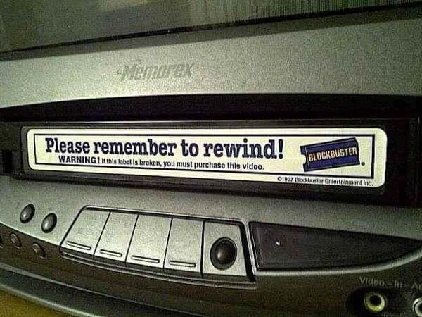 """And """"be kind, rewind"""" might as well be a foreign language to them:"""