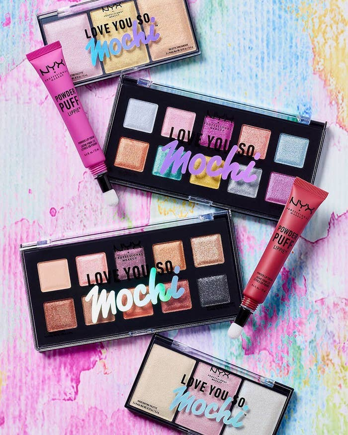f4c4c266dd5 NYX Love You So Mochi Eyeshadow Palette mirrors the irresistibly bouncy  texture of your fave Japanese dessert so you basically won't be able to  take your ...