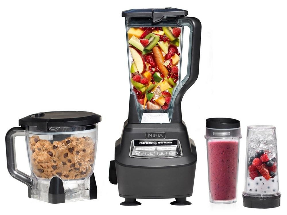 This kitchen system comes with a 1500-watt base, an eight-cup food processor bowl, a 72-ounce pitcher, and two 16-ounce to-go cups with lids. P.S. It also has a 4.4 out of 5 rating and over 1,000 reviews on Amazon!—Meg M.Get it from Amazon, Walmart, The Home Depot for $150.64.