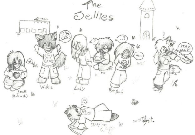 (By the way, here's a sketch a 12-year-old Kristin made of her Evil Jellies guild from 2001 that she shared with BuzzFeed News.)