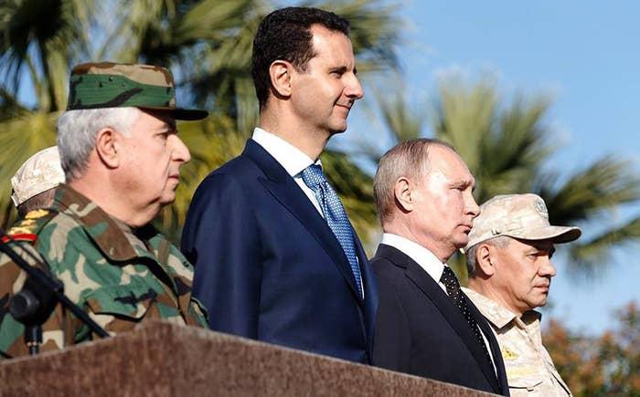 Syrian President Bashar al-Assad, second from left, with Russian President Vladimir Putin late last year.