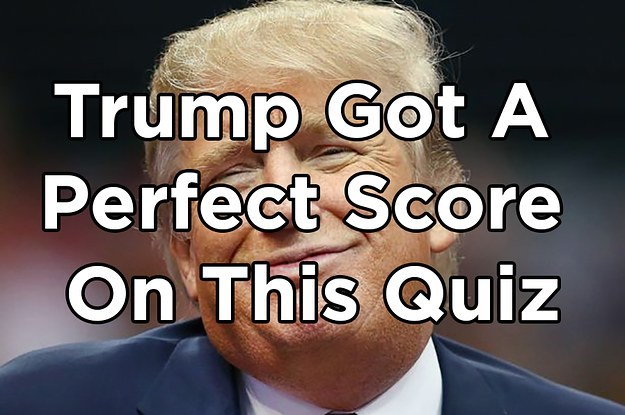 Only People As Brilliant As Trump Can Get A Perfect Score On This Quiz