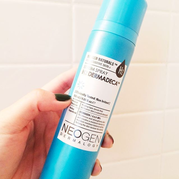 Neogen H2 Dermadeca Serum Spray is like a breath of fresh air, plumping your face and minimizing aging signs.