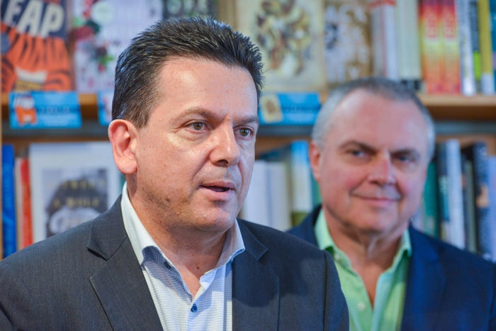 Nick Xenophon and Stirling Griff