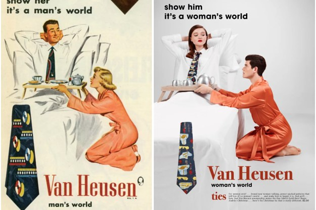 This Artist Re-Created Sexist Vintage Ads With The Roles Reversed And It's Too Perfect