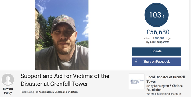 And as you also should all know, he's one of the kindest and most generous celebs around. Take the time he set up a JustGiving page to help victims of the tragic Grenfell Tower fire in London.