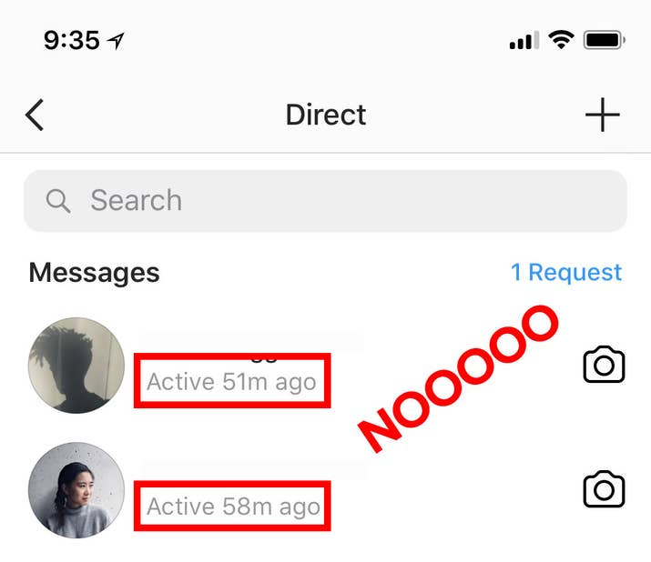 """You'll also see """"Seen"""" and """"Typing..."""" underneath messages now. 😱 Your active status isn't visible to everyone. Only people you direct message *and* follow will see when you were last using Instagram. If you have a public account, and someone who doesn't follow you sends you a DM, they won't be able to see your active status.An Instagram spokesperson said that users of app version 25 and newer will have the activity status. So if you've updated your app since December 2017, you'll have it. Users who have not updated their app, and are using version 25 and older, will not be able to see their activity status, and neither will their friends."""