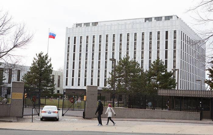 The Russian Embassy in Washington, DC.
