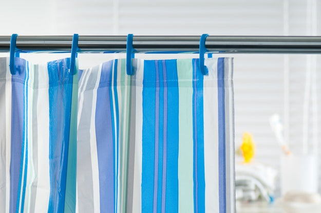 Replace your moldy shower curtain liner.