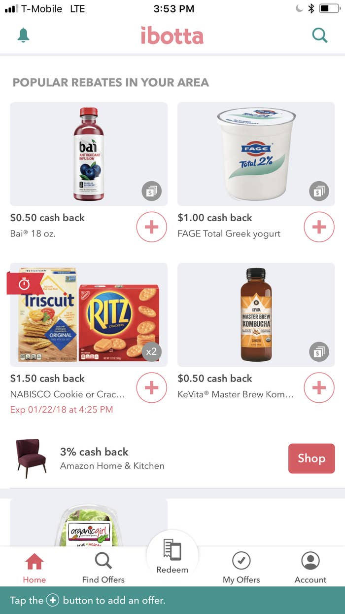 Check out Ibotta and Checkout 51, two free coupon apps that can help you save a few bucks. And for more coupon tips, check out the Krazy Coupon Lady.