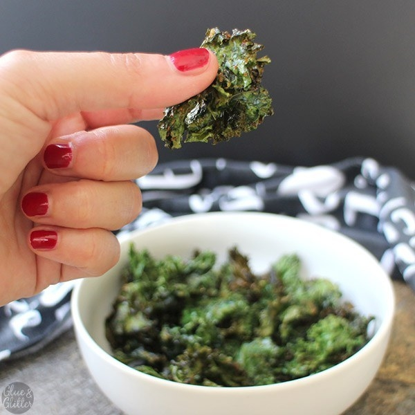Amazing what two tablespoons of oil and some vegan ranch seasoning can do to tough kale. Recipe here.