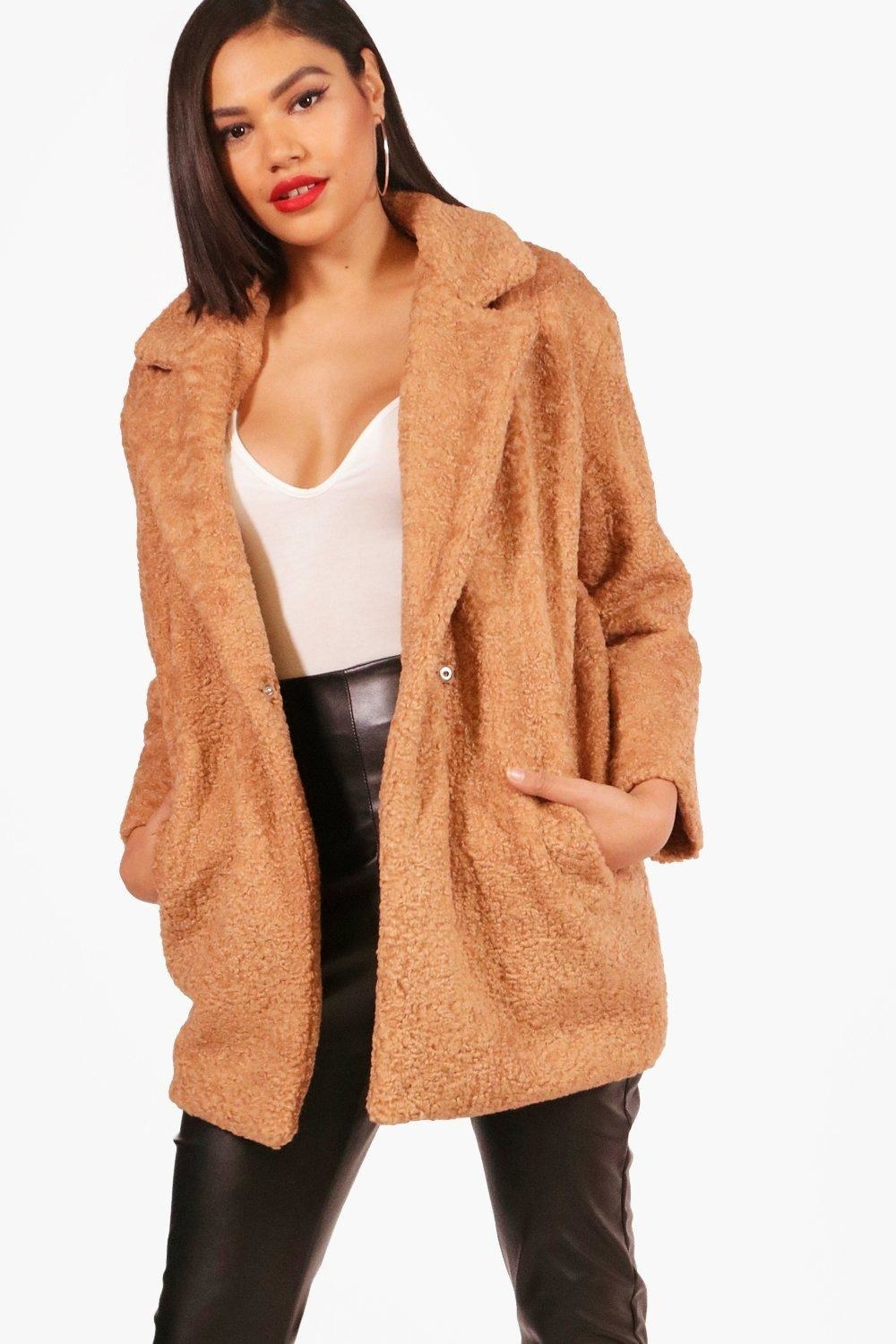 06f9d27a5d4 UK-based Boohoo will have your wallet weeping tears of joy. Why  They sell  a ton of on-trend coats at ridiculously reasonable prices.