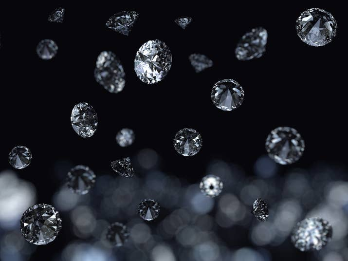 Scientists estimate about a thousand tons of diamonds rain down on Saturn every year — each up to a centimeter wide. Oh, and Jupiter rains diamonds, too!