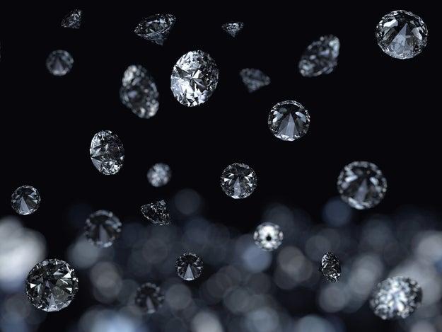 Saturn rains diamonds.