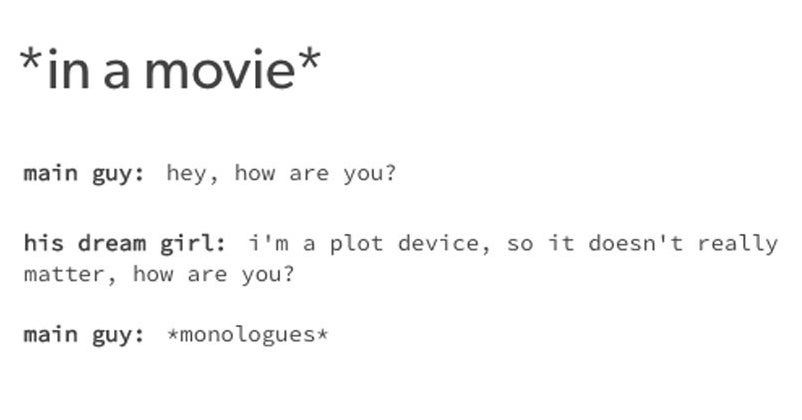 17 Tumblr Posts About Movies That Will Make Women Simultaneously Laugh And Groan