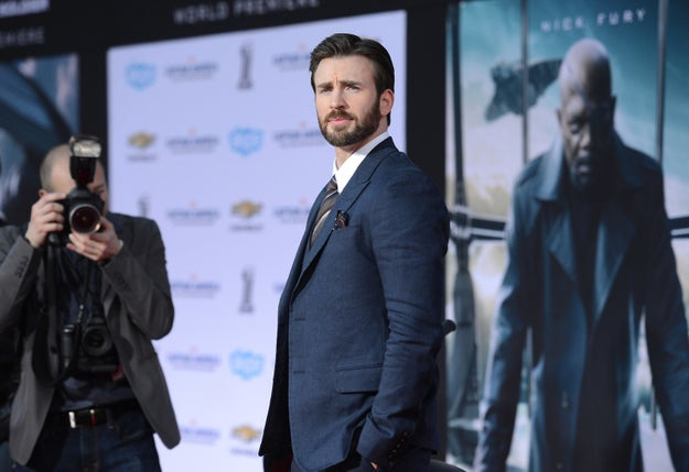 And finally you have Chris Evans, who's a real knee-buckler.