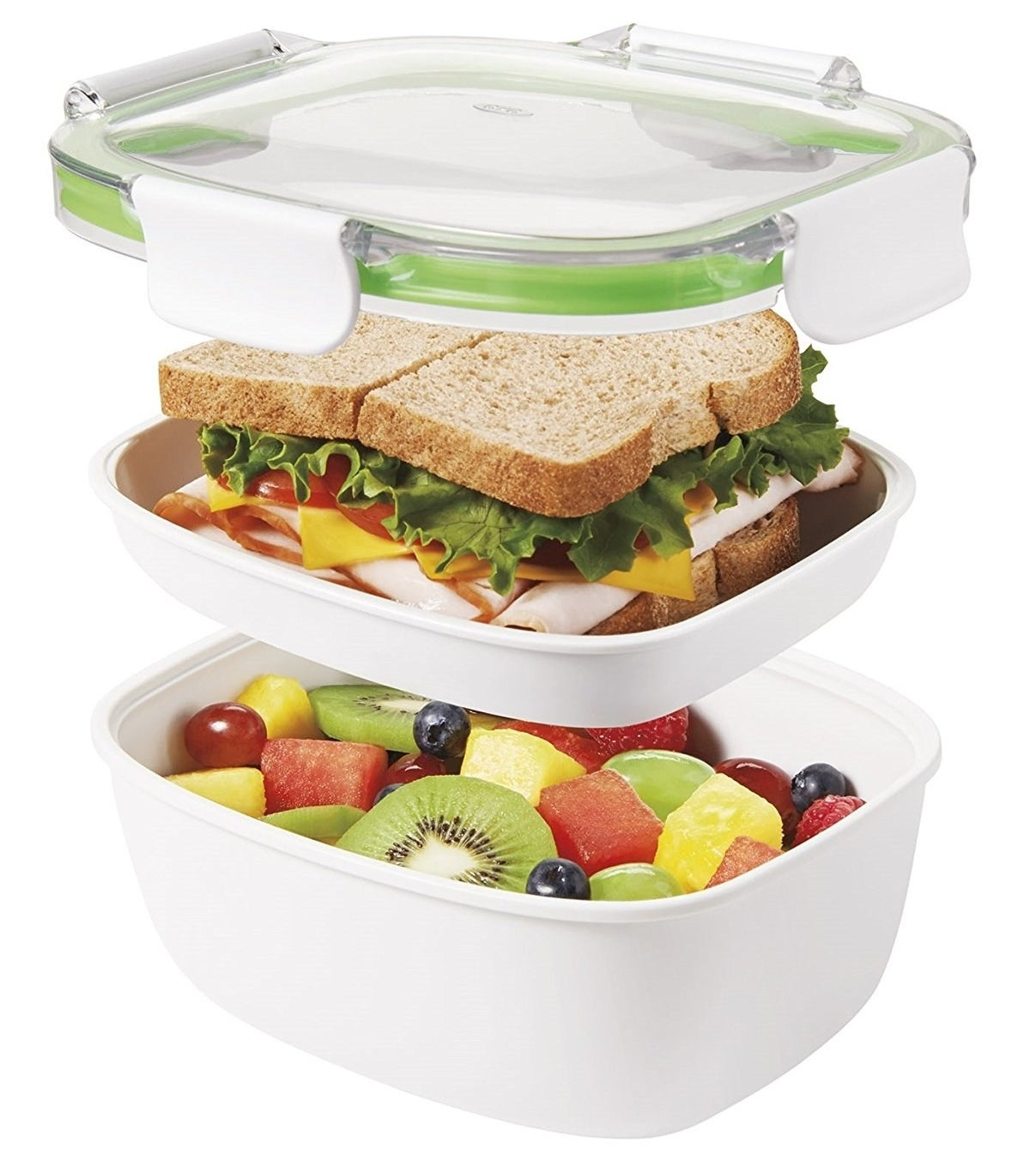 """This BPA-free container is dishwasher-, microwave-, and freezer-safe. Promising Review: """"I love this container. I put a salad under and food to warm in the microwave on top. I store it sideways in my lunch box and it never leaks. The rubber sealer can be easily removed for cleaning. Awesome!"""" —SusanGet it from Amazon for $14.99 (also available for salads for $17.95)."""