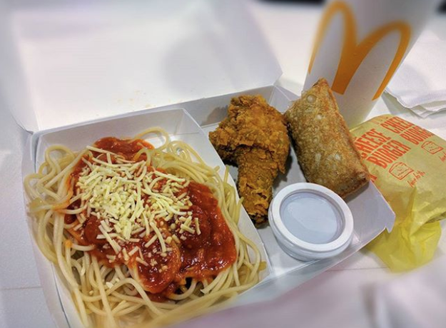 Spaghetti, Fried Chicken, and a Banana Pie (McDonald's Philippines)
