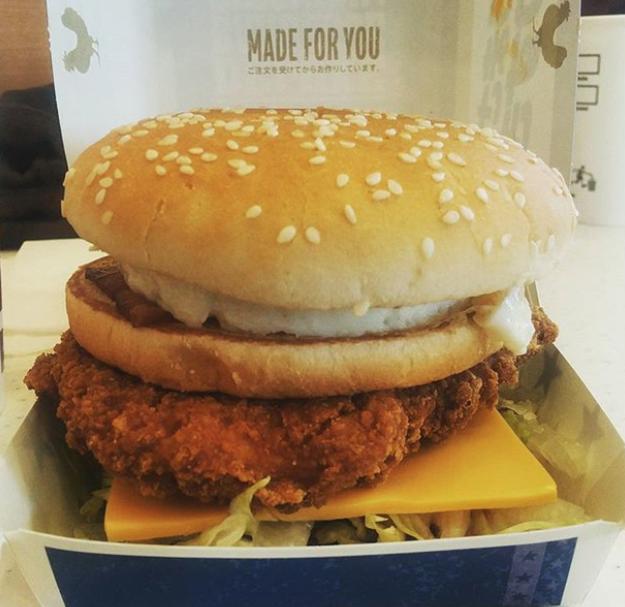 Deluxe BBQ Chicken Burger (McDonald's Japan)
