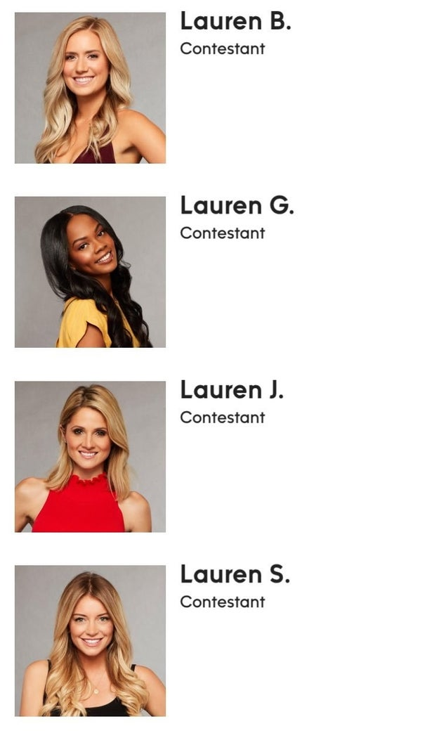 Because clearly the most important thing that we need to talk about is that there are LITERALLY four Laurens on the show this season:
