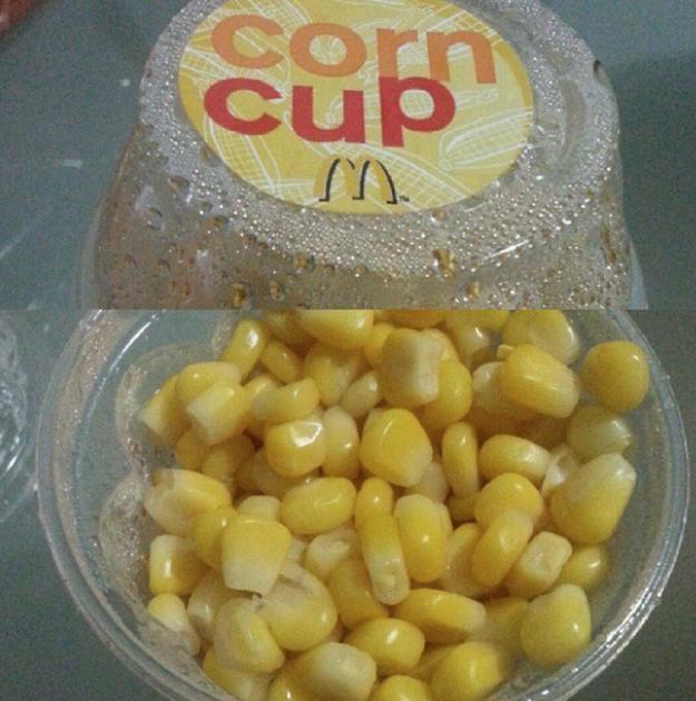 Corn Cup (McDonald's Hong Kong)