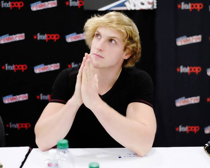 The logan paul suicide video shows youtube is facing a crucial logan paul attends the thinning meet greet during the 2016 new york comic solutioingenieria Images