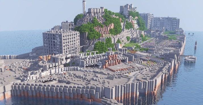 マインクラフトのすごい街 軍艦島