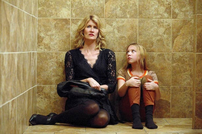 Laura Dern and Isabelle Nélisse as Jennifer Fox in The Tale.