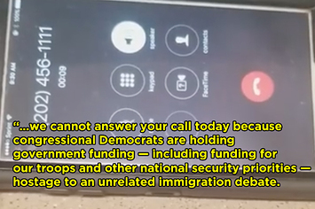 The White House Has A New Voicemail Following The Government Shutdown And It's...Something