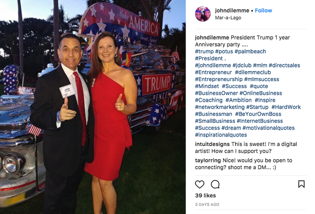 Many who attended the party at Trump's Florida resort posted photos of themselves enjoying the weekend.