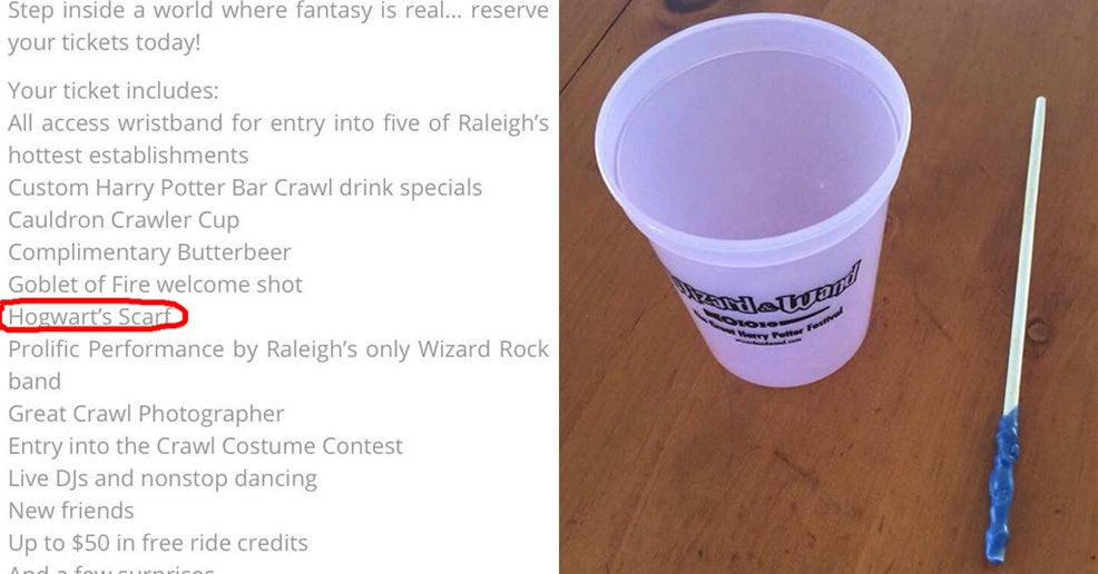 """A """"Harry Potter""""-Themed Bar Crawl Is Getting Slammed On Facebook By People Who Say It Was A Scam"""