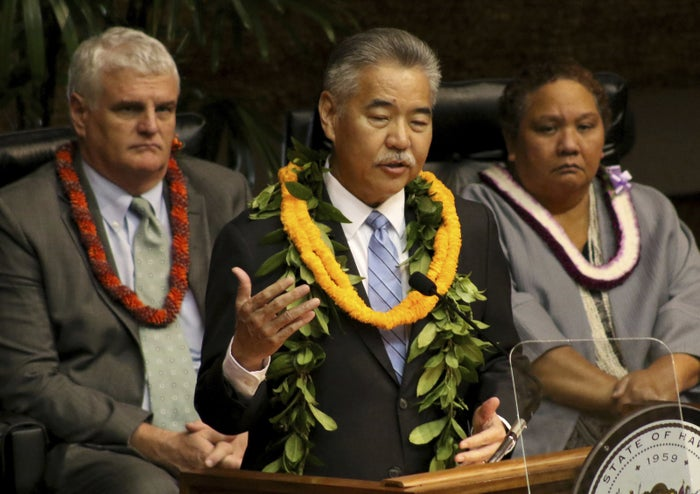 Hawaii Gov. David Ige delivers his annual State of the State address in Honolulu.