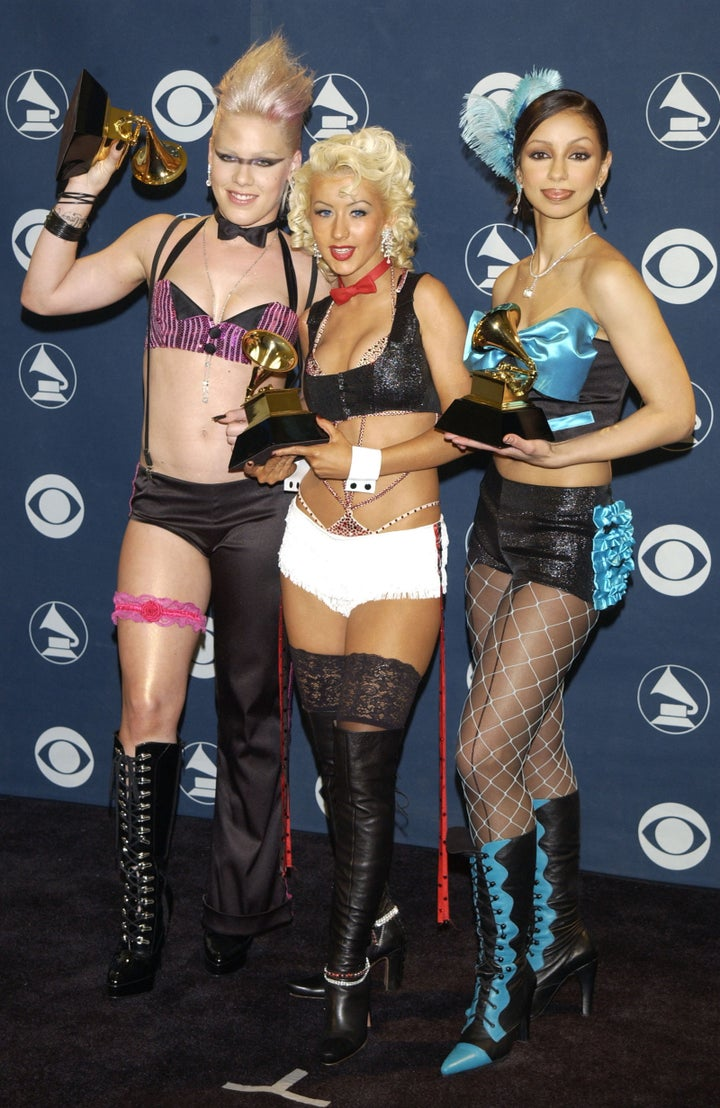 Pink, Christina Aguilera, and Mya — 2002