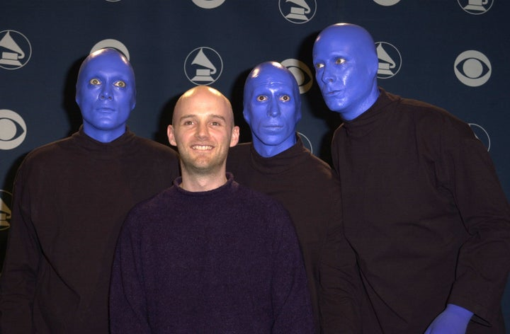 Moby and Blue Man Group — 2001
