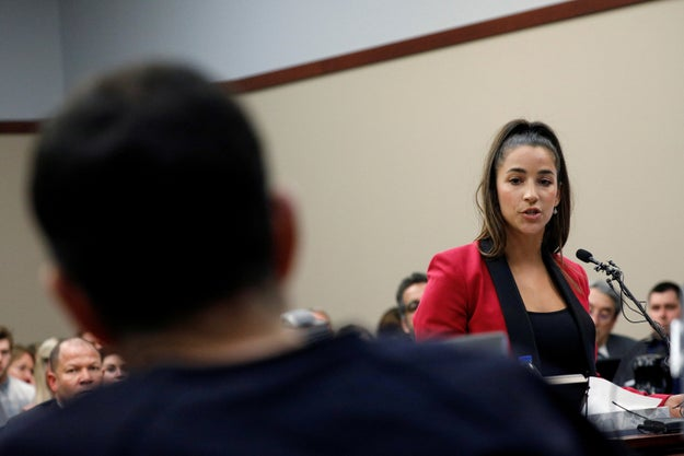 "As did Olympic gold-medalist Aly Raisman. At Nassar's ongoing sentencing hearing, she said it was a place where ""so many of us were abused."""