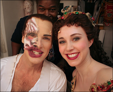 Hugh Panaro once got his lip prosthetic stuck to an actress who played Christine while kissing her.