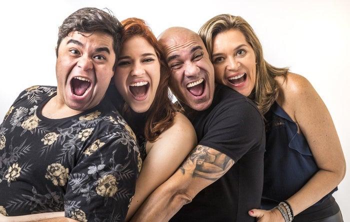 Os sortudos são os cariocas Ayrton, sua mulher Eva, sua filha Ana Clara, e o sobrinho Jorge.