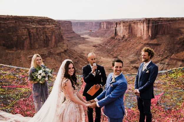But Kim Weglin and Ryan Jenks took it to the next level when they got married last November in Utah. As in...