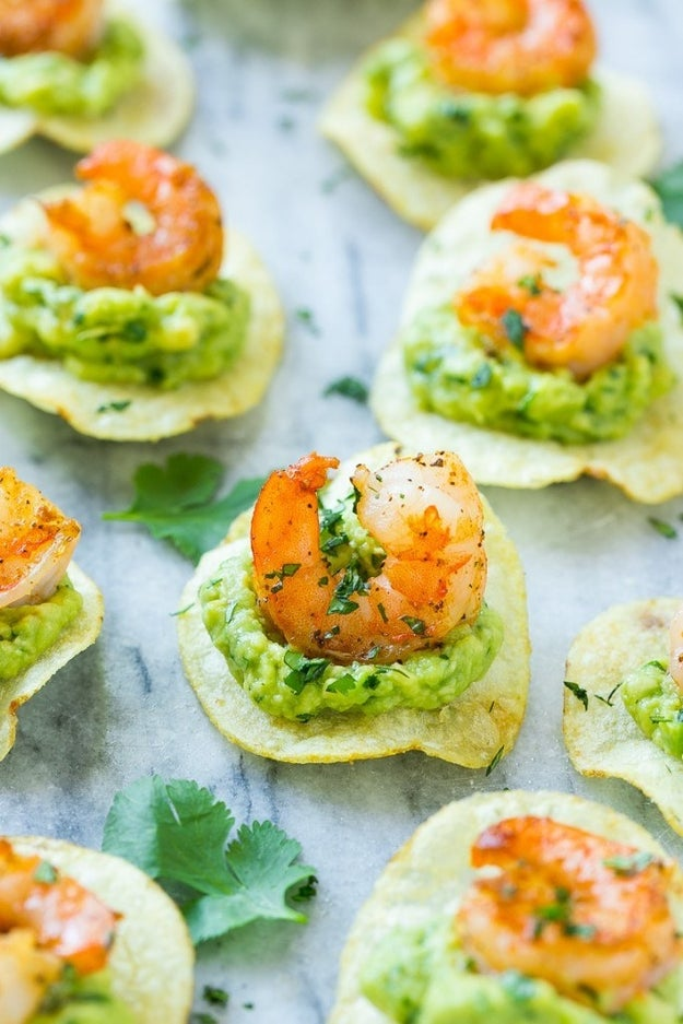 Shrimp and Avocado Bites