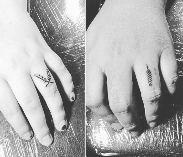 """""""My husband and I got little wheat stalk tattoos. We were inspired by something our pastor said about marriage: 'Love the harvest more than you hate the hard work.'""""—candicei"""