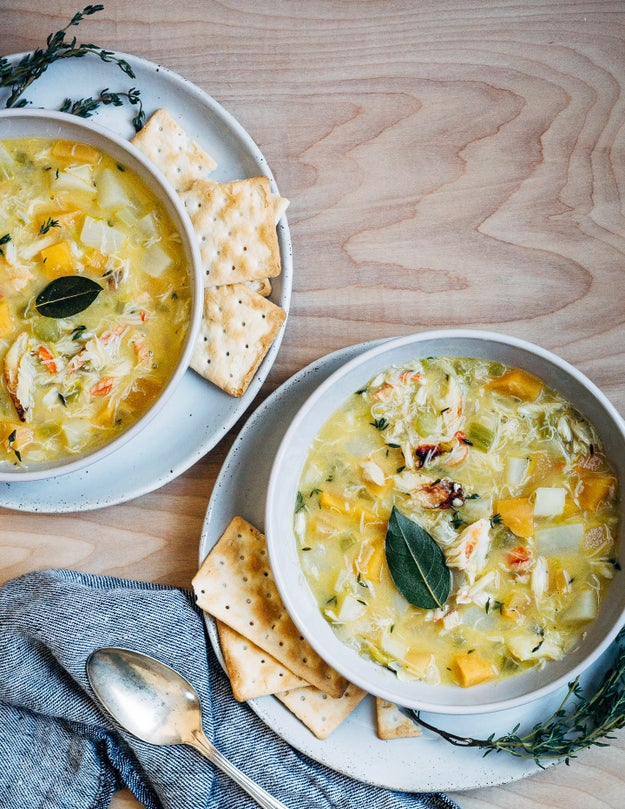 Winter Vegetable Dungeness Crab Chowder