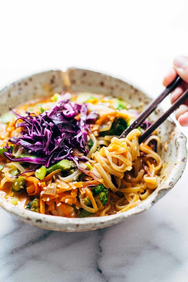 Coconut Curry Noodle Bowls