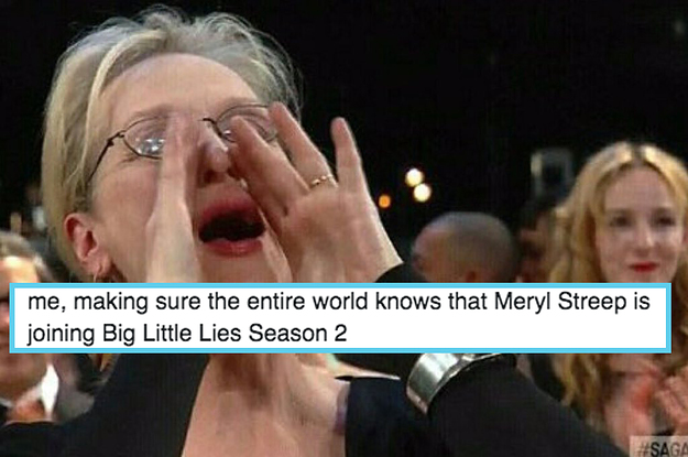 """OMG! Meryl Streep Is Joining """"Big Little Lies"""" Season 2 And Twitter Is Freaking Out"""