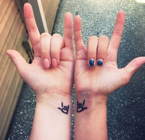 """My sister and I got matching tattoos before I moved out of state, to symbolize our love for each other!""—stephaniec40c5dd71d"