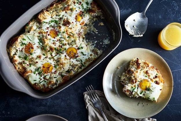 Baked Eggs With Ricotta and Onions