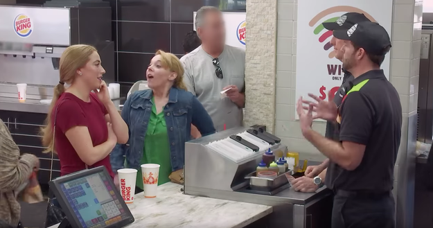 In the video, real Burger King customers are forced to either pay more for a burger to get it quickly or pay the normal price and wait for a long time.