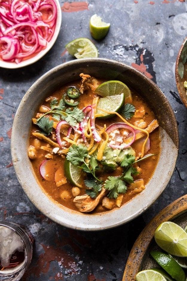 Mexican Hot Pot With Avocado Crema