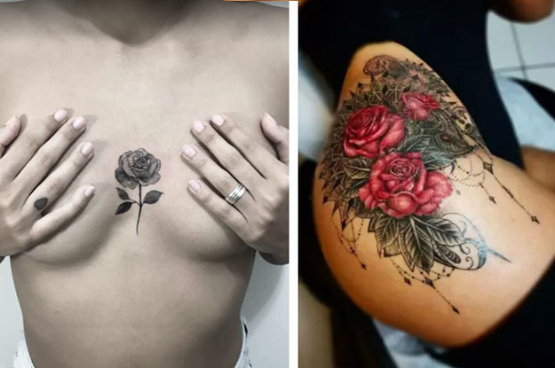 fcf1dcf8d 28 Rose Tattoo Ideas That Are Too Beautiful For Words