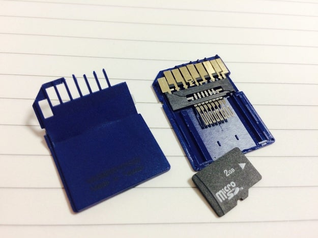The inside of an SD card: