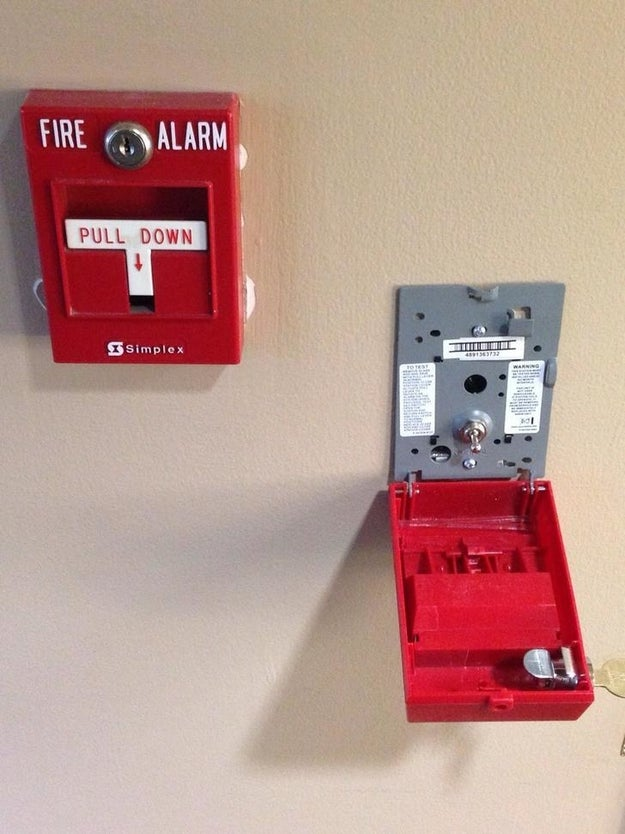 This is the inside of a fire alarm: